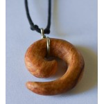 BEAUTIFUL SPIRAL NECKLACE HANDMADE PALO SANTO WOOD