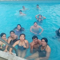 WORKERS SWIMMING