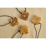 BEAUTIFUL PERUVIAN CHAKANA NECKLACE HANDMADE PALO SANTO WOOD
