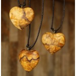 BEAUTIFUL PERUVIAN HEART NECKLACE HANDMADE PALO SANTO WOOD