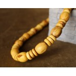 BEAUTIFUL AND BIG NECKLACE PALO SANTO WOOD