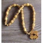 BEAUTIFUL NECKLACE PALO SANTO WOOD WITH INCA CROSS