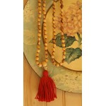 BEAUTIFUL JAPA MALA WITH KNOTS  HANDMADE PALO SANTO WOOD